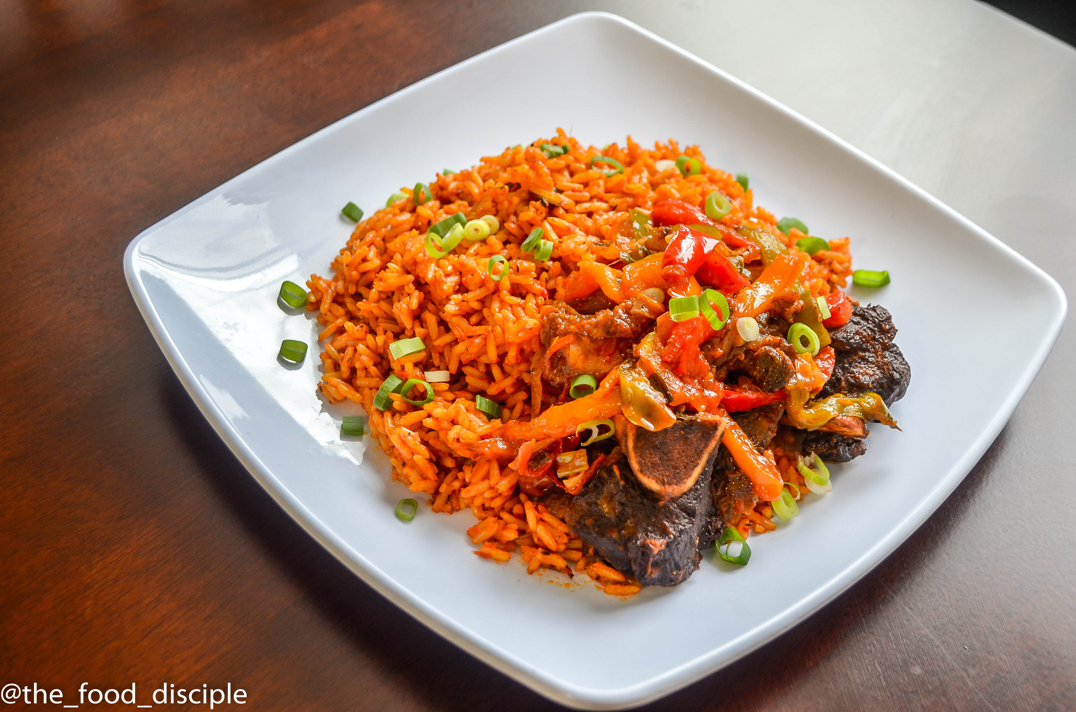 Jollof Rice and Peppered Beef