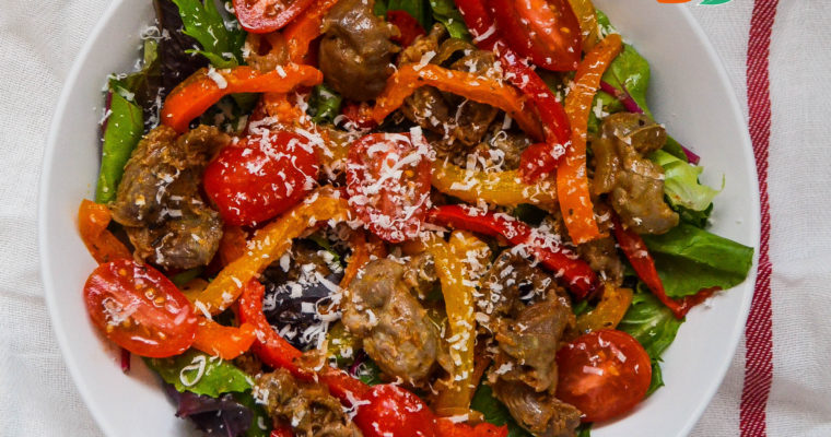 Chicken Gizzard and Pepper Salad