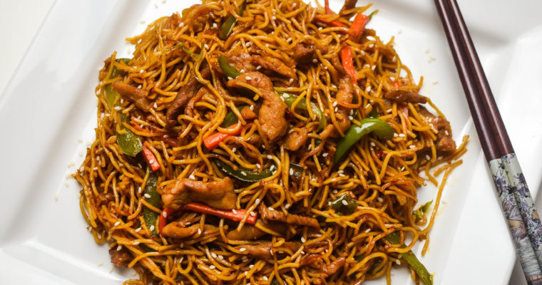 Pork Chow Mein in minutes
